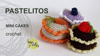 Tutorial Pastelitos Crochet Mini Cakes (English Subtitles)