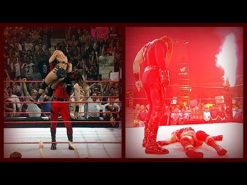 Kane U0026 X-Pac Vs The Big Show U0026 Hardcore Holly + Kane Saves X-Pac U0026 Chokeslams Chyna! 6/13/99