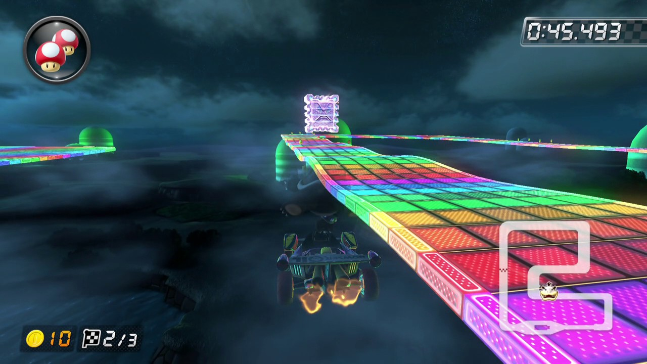 Snes Rainbow Road 150cc 1 30 831 Cipher Mario Kart 8 Deluxe