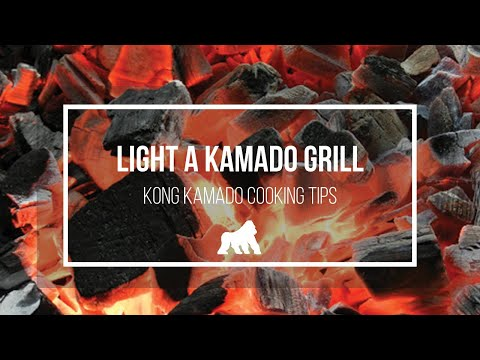 kamado cooking tips how to light the kong