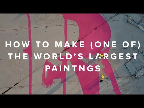 BEHIND ONE OF THE WORLDS LARGEST PAINTINGS