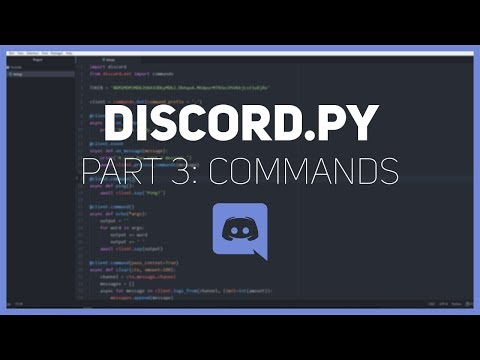 Discord.py: Making a Discord bot (Part 3: Commands)