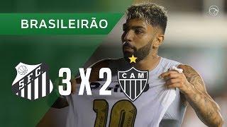 SANTOS 3 X 2 ATLÉTICO-MG - GOLS - 24/11 - BRASILEIRÃO 2018