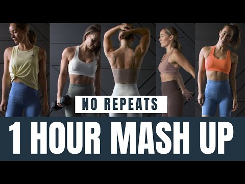 1 Hour No Repeat Mash Up// Strength + Cardio Workout