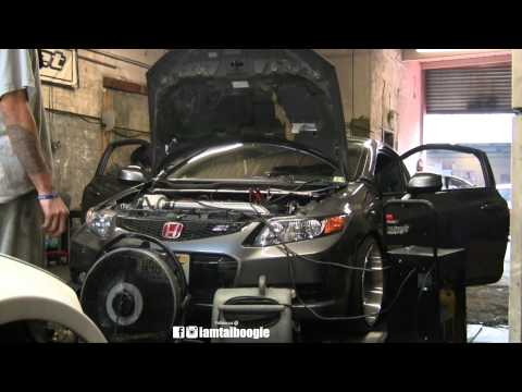 Quick  Dyno session of Kraftwerks Supercharged Honda Civic si