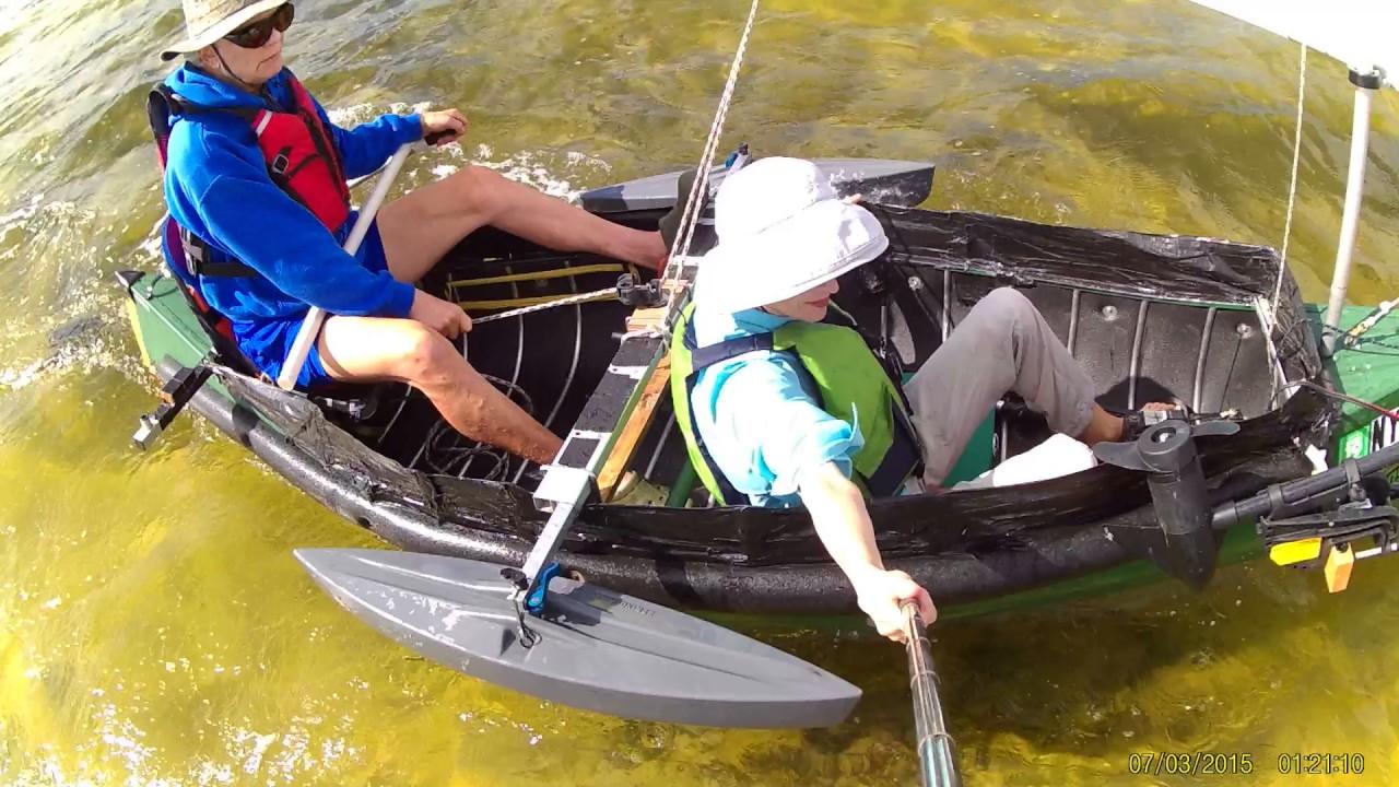 Sailing the 12' Radisson Canoe with Sail Kit purchased from  Sailboatstogo com