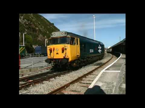 50049 Defiance. 2006 window view, Cardiff to Fishguard Harbour.Clip 440