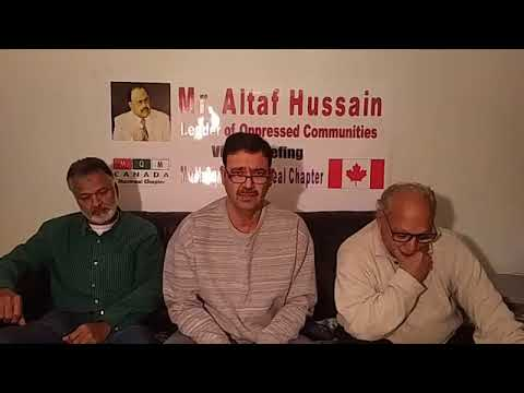 Live   Video Briefing MQM Canada  Montreal Chapter 13 Nov 2017