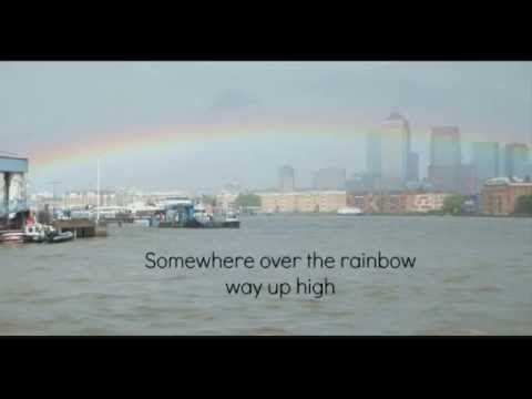 Somewhere Over the Rainbow (Lyrics) - Judy Garland