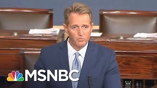 Terminally Ill Man Confronts Jeff Flake On Health Care Cuts | All In | MSNBC
