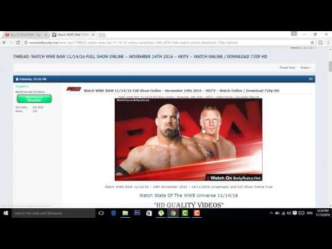 How To Download free wwe wristling latest show in hd 2017 urdu/hindi