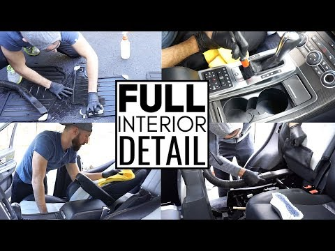 Complete Full Car Interior Cleaning! Car Detailing A Range Rover Sport Supercharged