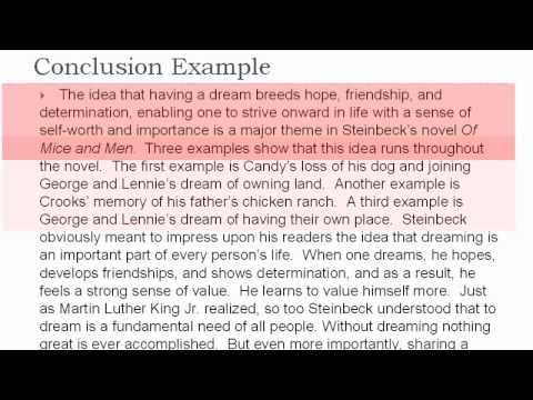 Thematic Essay #4 the Conclusion - YouTube