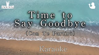 Time to Say Goodbye - Con Te Partirò (Karaoke/MR for Female, Most Beautiful Orchestra)