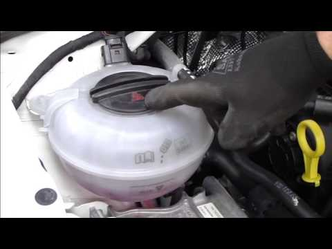 How to check and add coolant. VW Golf VII (A7/Typ 5G).Years 2013 to 2019