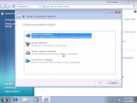 Windows 7 Internet PPPoE