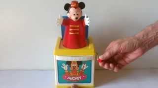 Disney Mickey Mouse Jack In The Box Musical Toy [hd]