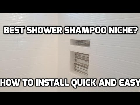 How to Install a Leak-Proof Shower Niche