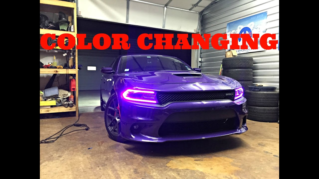 Srt Dodge Dart >> 2015+ Dodge Charger RGBW DRL LED Boards Diode Dynamics Installation by ModFX - YouTube
