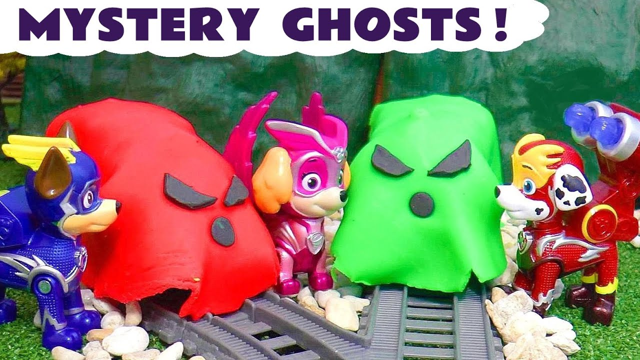 Ghost Game with Paw Patrol Mighty Pups Super Charged and Thomas and Friends Full Episode English