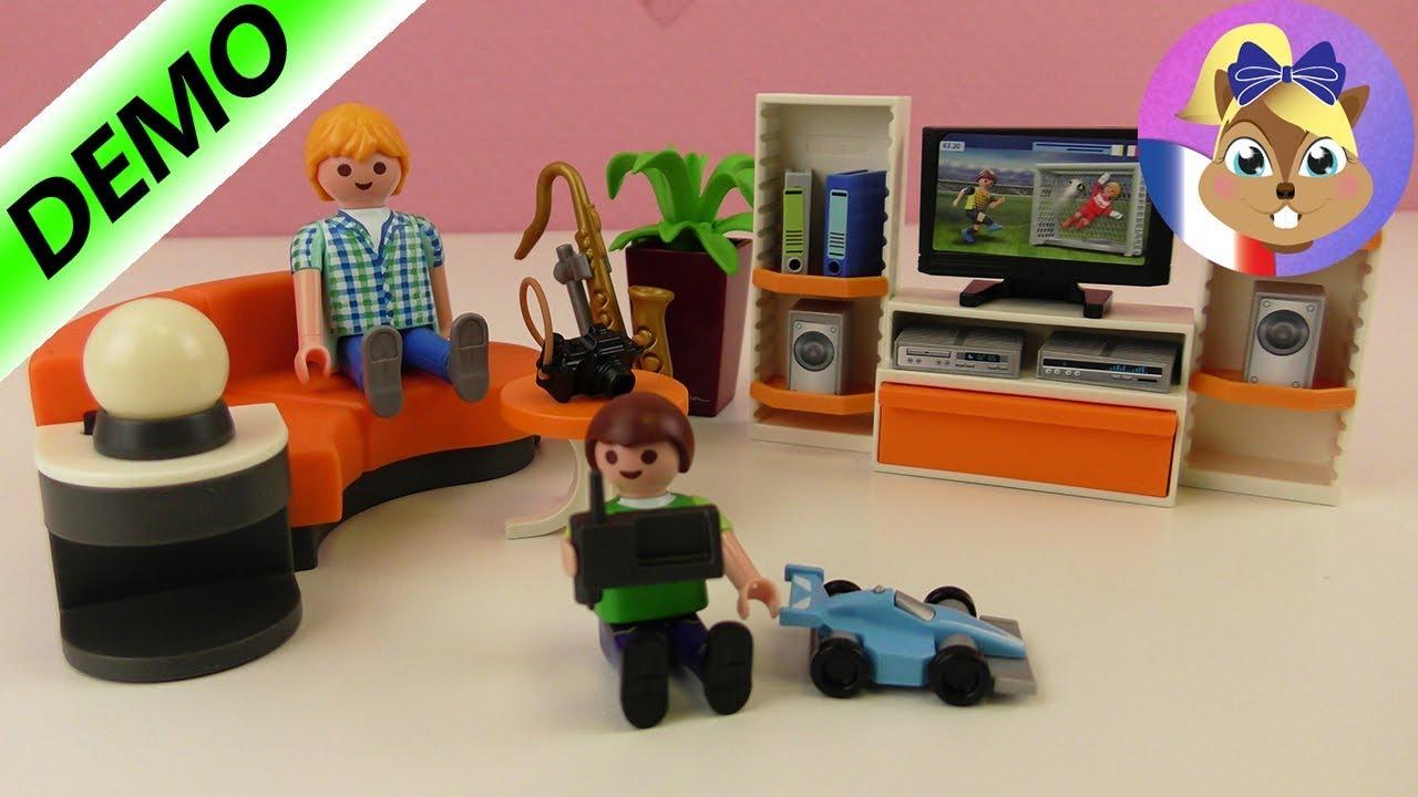 salon playmobil city life pour une maison moderne demo en francais
