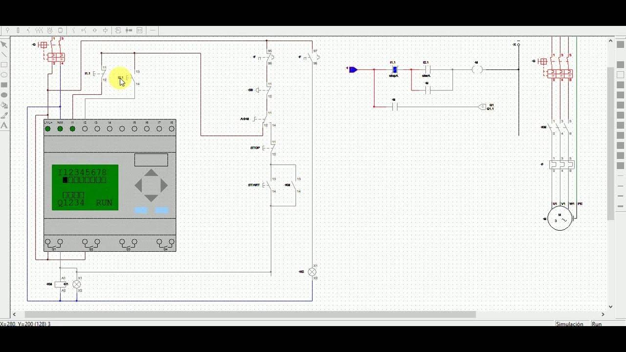 CADe SIMU V2.0 con PLC (arrancador directo manual o