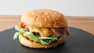 How To Make Cheese And Bacon Burgers - By One Kitchen Episode 163