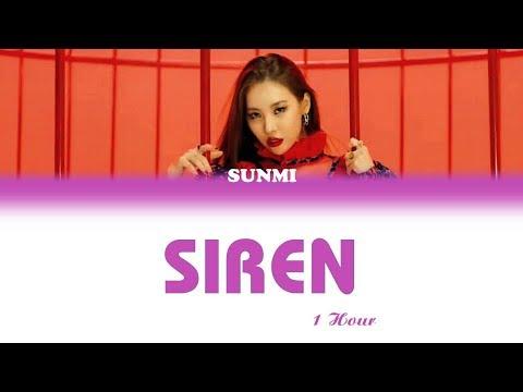 [1 시간 / 1 HOUR LOOP] SUNMI (선미) - 'SIREN (사이렌)' - Color Coded Lyrics