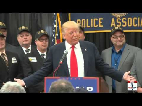 Donald Trump blasts GOP for 'corrupt voting system' Staten Island, NY  4 17