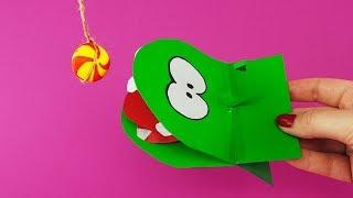 Cut the Rope Om Nom from Paper Tutorial fro Kids | How to make Om Nom