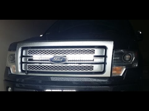 F150 32 Quot Led Bar Behind The Grill How To Install F150leds
