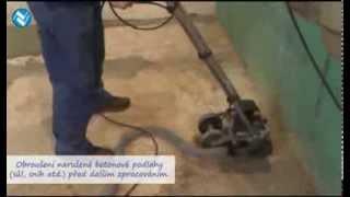 Broušení betonové podlahy