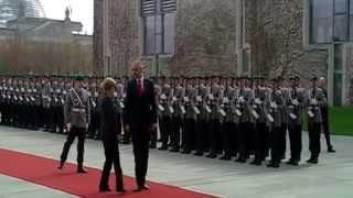Ceremonia zyrtare e pritjes sГ« Kryeministrit Rama nga Kancelarja Merkel nГ« Gjermani