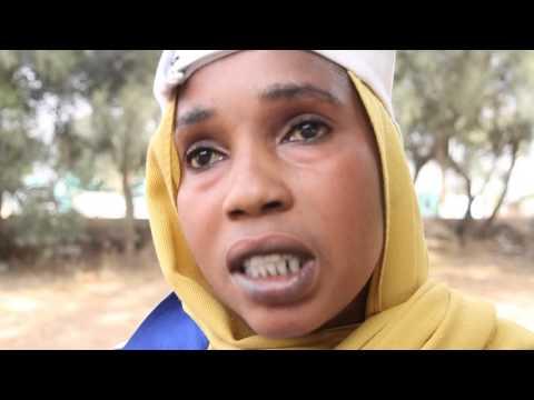 Female Football player in Zalingei زالنجي/Central Darfur ولاية وسط دارفور/The Sudan السودان