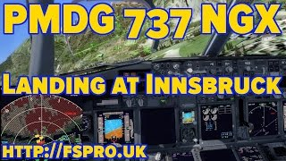 PMDG 737 NGX | Rough Landing at Innsbruck
