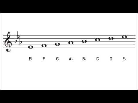 E Flat Major Scale and Key Signature   The Key of Eb Major