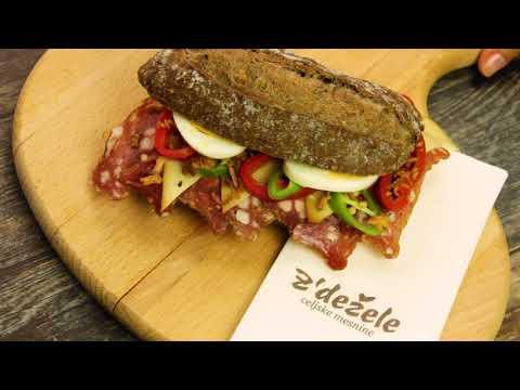 Krepki sendvič s savinjskim želodcem z´dežele