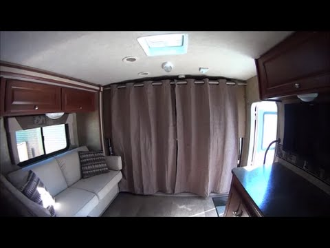 motorhome driving deck curtains project - youtube