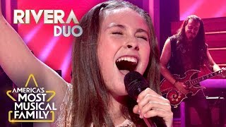 "Rivera Duo Rock Out to ""Still Into You"" by Paramore on America's Most Musical Family!"