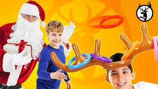 Funny Reindeer Hat Inflatable Christmas Ring Game | Deergamez.com