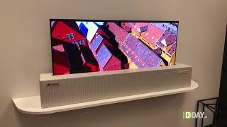 """Ces 2018 - LG Display dimostra il primo TV da 65"""" arrotolabile"""