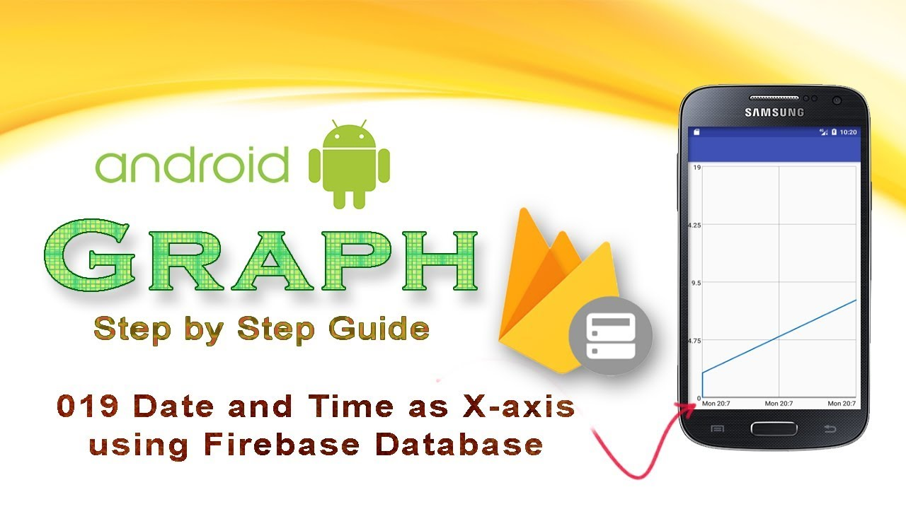 019: Date and Time in Graph from Firebase Database : Android Graph View  tutorial