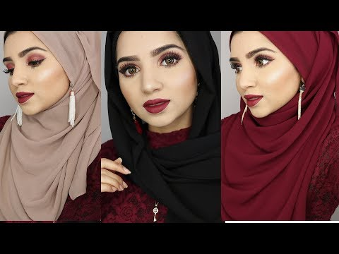 FULL COVERAGE HIJAB STYLES FOR PARTY WEAR