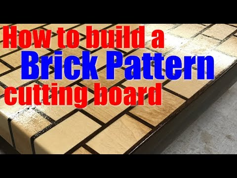 woodworking how to build a brick style cutting board youtube