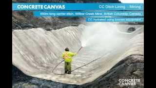 Beton Kumaş Kanal Kaplama Maden Sahası