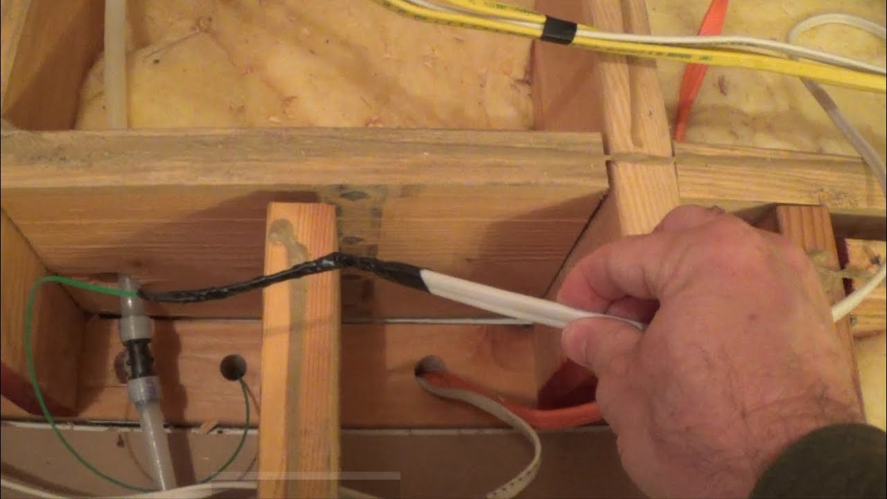 How To Fish Wire Down A Wall From Attic Crawl Space Youtube Wiring Tape