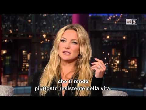 Kate Hudson @ David Letterman Show 24/04/13 SUB ITA