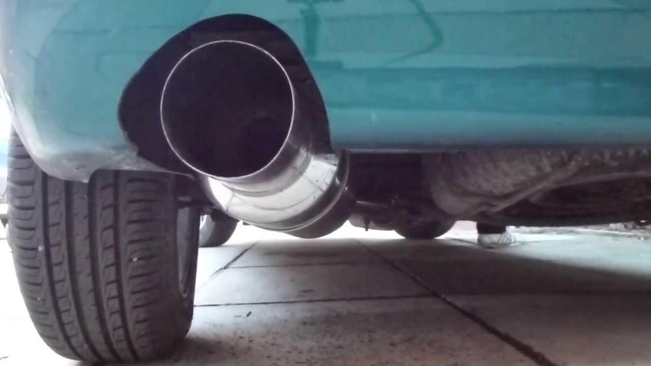 citroen saxo 4 inch jap can backbox exhaust sound