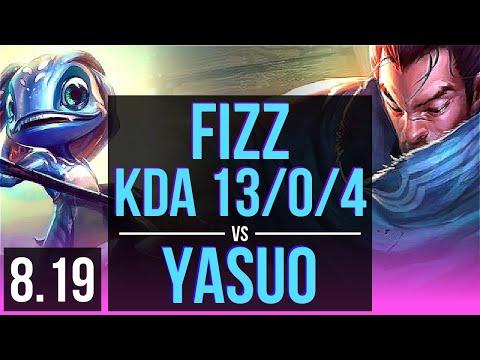 FIZZ vs YASUO MID  KDA 1304, Legendary  Korea Diamond  v819