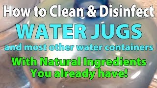 Saturday Projects™ .com | THE BEST WAY TO CLEAN WATER JUGS AND BOTTLES w/natural ingredients